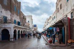 Gata i medinaen av Essaouira Arkivfoton