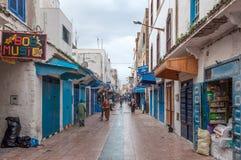 Gata i medinaen av Essaouira Royaltyfri Foto