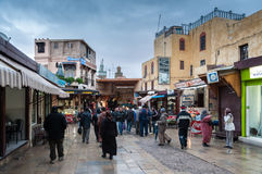 Gata i medinaen av Fez Royaltyfria Foton