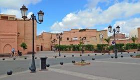 Gata i medinaen av Marrakech, Marocko Royaltyfri Fotografi