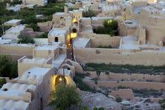 Gata i Meybod Iran Arkivbild