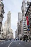 Gata i midtownen Manhattan Arkivbild