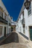 Gata i mitt av Faro, Algarve, Portugal Arkivbild