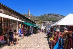 Gata i Mostar Arkivbilder