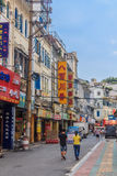 Gata i Penang Kina Arkivfoto