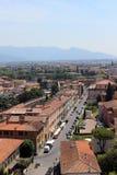 Gata i Pisa Arkivbilder