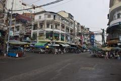 Gata i Pnom Penh Arkivbild