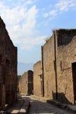Gata i Pompeii Arkivfoto