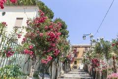 Gata i Ravello, Amalfi kust, Italien, Royaltyfria Bilder