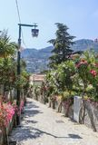 Gata i Ravello, Amalfi kust, Italien Royaltyfria Foton