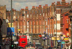 Gata i södra London fotografering för bildbyråer