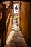 Gata i Saint Tropez arkivbilder