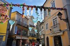 Gata i Setubal, Portugal royaltyfri fotografi
