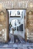 Gata i Seville royaltyfria bilder