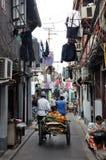 Gata i Shanghai Arkivbild