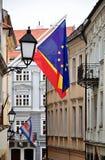 Gata i staden av Bratislava, Slovakien, Europa Royaltyfri Fotografi