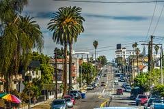 Gata i i stadens centrum Los Angeles Royaltyfria Bilder