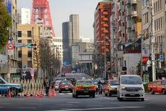 Gata i Tokyo, Japan Arkivfoto