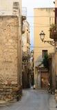 Gata i Trapani, Sicilien, Italien Arkivfoton