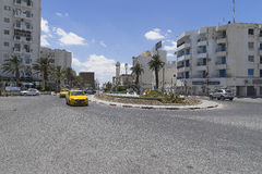 Gata i Tunis royaltyfria bilder
