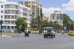 Gata i Tunis royaltyfri bild