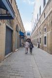 Gata i Tunis Royaltyfri Fotografi