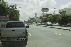 Gata i Ubon, Thailand Arkivbilder