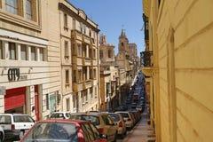 Gata i Valletta Arkivbild