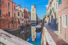 Gata i Venedig - Italien Arkivbild