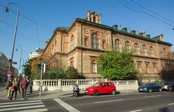 Gata i Wien, Österrike tvärgator arkivfoto
