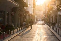 Gata Istanbul i ottan Royaltyfri Foto