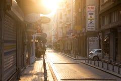 Gata Istanbul i ottan Royaltyfri Bild