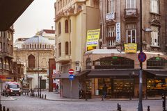 Gata Istanbul i ottan Royaltyfri Fotografi