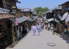 Gata Kyoto Japan Arkivbild
