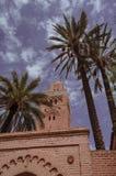 Gata Marocko, blått, medina, marrakech royaltyfri bild