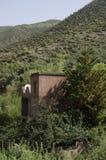Gata Marocko, blått, skog, by arkivfoton