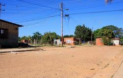Gata med få hus i Venezuela Arkivfoton