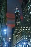 41 gata New York, nattsikt Royaltyfri Foto