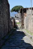 Gata och byggnader, Pompeii arkeologisk plats, nr Mount Vesuvius, Italien Royaltyfria Bilder