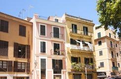 Gata och gamla byggnader i det historiska centret av Palma Mallorca, Spanien 30 06 2017 Arkivbilder