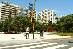 Gata på Buenos Aires Royaltyfria Foton
