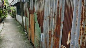 Gata på den thai slumkvarteret arkivfilmer