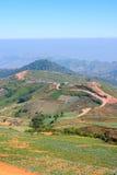 Gata på det gröna berget Arkivbild