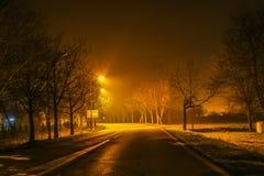 Gata på natten Arkivfoto