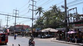 Gata på Patong Phuket Royaltyfria Foton