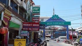 Gata på Patong Phuket Thailand Arkivbilder