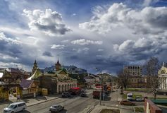 Gata Petersburg, i Kazan i Tatarstan arkivfoto
