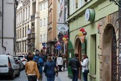 Gata Prague Arkivfoton