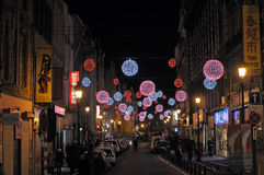 Gata Sainte-Catherine i Bryssel Arkivfoto