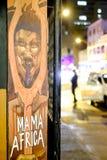 Gata som är photograhpy i Cape Town, Sydafrika arkivfoto